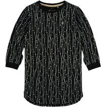 Jurk Elin black onyx stripe