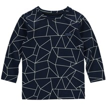 Longsleeve Elliot dusty navy geometric