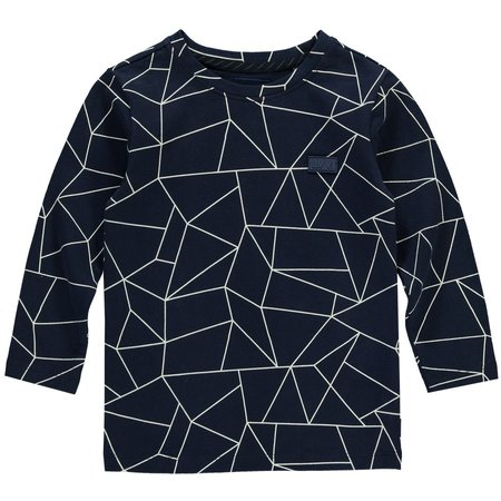 Levv LEVV mini longsleeve Elliot dusty navy geometric