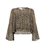 Franky & Liberty Frankie & Liberty blouse Lavin check black/ cynnamon/ off white