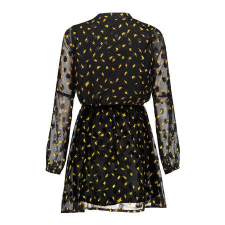 Franky & Liberty Frankie & Liberty jurk Lavin black w. gold print