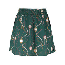 Rok Lora chain print forest green