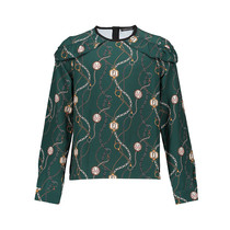 Blouse Lora chain print forest green