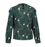 Franky & Liberty Frankie & Liberty blouse Lora chain print forest green