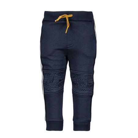 B.Nosy B.Nosy broek with stitching knee, tape on the side ink blue