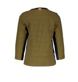 B.Nosy B.Nosy longsleeve button, with contrast side part str. ink bl/ m yel