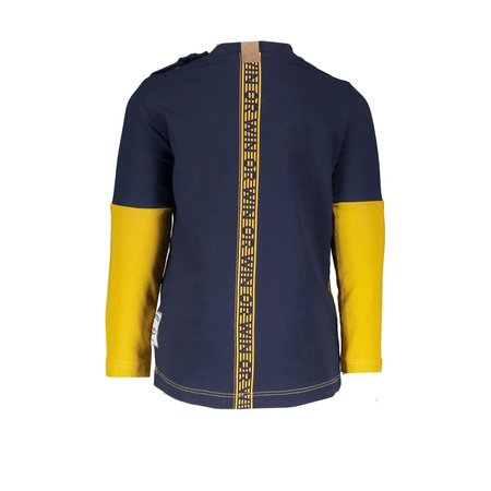 B.Nosy B.Nosy longsleeve color blocking with print on back panel mars yellow