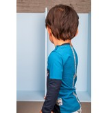 B.Nosy B.Nosy longsleeve color blocking with print on back panel ink blue