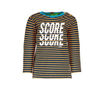 Longsleeve stripe with plain backside hd print neon orange