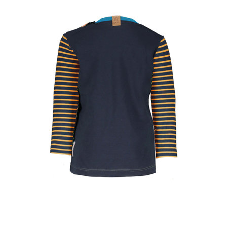 B.Nosy B.Nosy longsleeve stripe with plain backside hd print neon orange