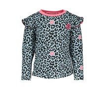 Longsleeve ao print with ruffle at shoulder panther kiss