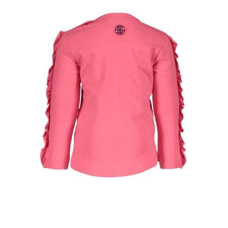 B.Nosy B.Nosy longsleeve with ruffle on sleeve shocking pink