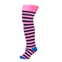 Maillot stripe shocking pink