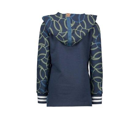 B.Nosy B.Nosy trui with hood, contrast sleeve, rib on sleeve cuff ink blue