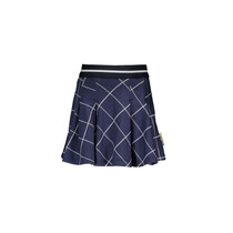 Rok check with pleated top part check ink blue