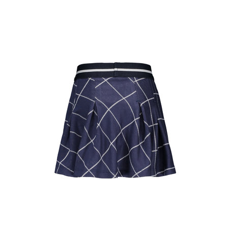 B.Nosy B.Nosy rok check with pleated top part check ink blue
