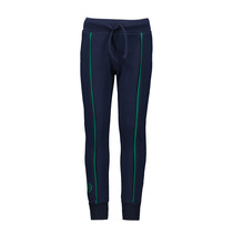 Broek with piping on front ink blue