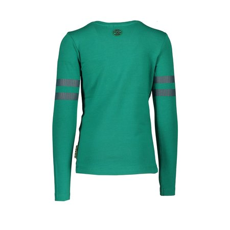 B.Nosy B.Nosy longsleeve with sequinces on sleeve emerald green