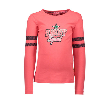 B.Nosy B.Nosy longsleeve with sequinces on sleeve coral red