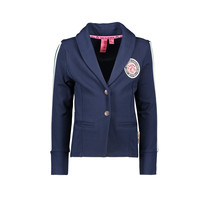Blazer with fancy tape on sleeve ink blue