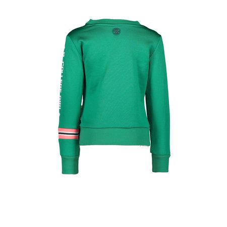 B.Nosy B.Nosy trui with rib on sleeve and body emerald green
