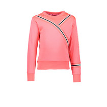 Trui with rib on sleeve and body coral red