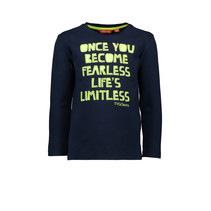 Longsleeve once you become fearless life's limitless navy