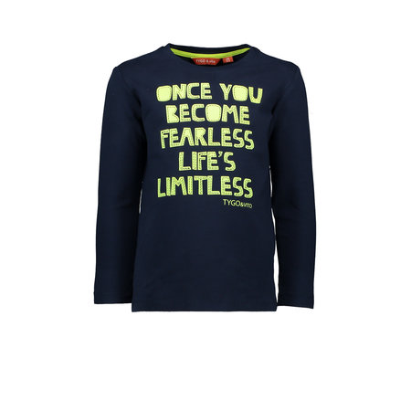 TYGO&vito TYGO&vito longsleeve once you become fearless life's limitless navy
