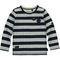 Longsleeve Tessel dark blue stripe