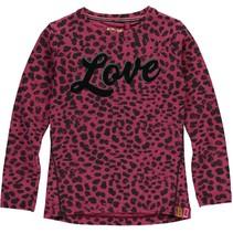 Longsleeve Theola bordeaux leopard
