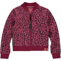 Vest Tifanny bordeaux leopard