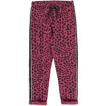 Broek Tilia bordeaux leopard