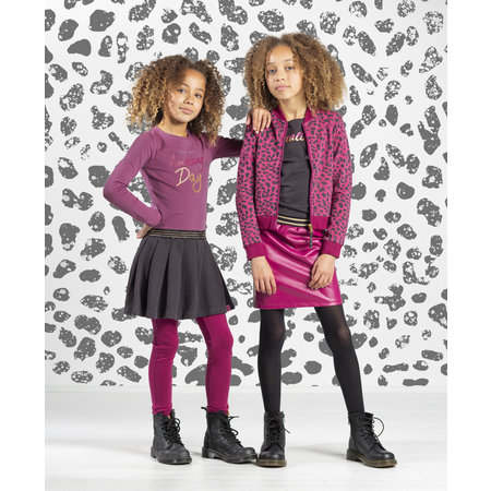Quapi Quapi jurk Thalisya pink dark grey stripe