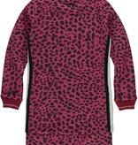 Quapi Quapi jurk Thayenne bordeaux leopard