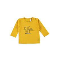 Longsleeve plain wild & free get lost ocre yellow