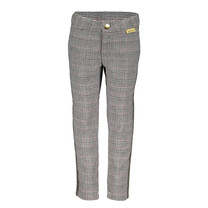 Broek woven check with adjustable waist + fancy tapes grey check