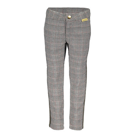 Bampidano Bampidano broek woven check with adjustable waist + fancy tapes grey check