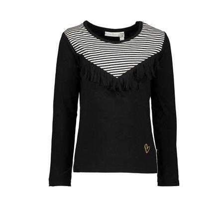 Bampidano Bampidano longsleeve cut & sewn y/d stripe + plain anthra