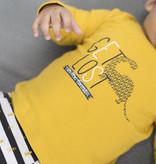 Bampidano Bampidano longsleeve plain wild & free get lost ocre yellow