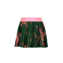 Rok printed velours plissé flower green