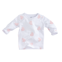Longsleeve Lilac white/soft pink/ hearts