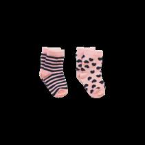 Sokjes Inger soft pink/navy
