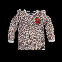 Longsleeve Kirsten bright white/leopard/aop