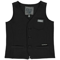 gilet sweat Thijmen dark grey