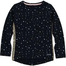 longsleeve Tari dark navy stars