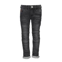 spijkerbroek stretch denim fancy kneeparts black denim
