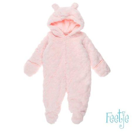 Feetje Feetje teddy pak met capuchon sweet & little roze