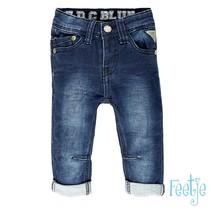 spijkerbroek slim fit donker blauw denim