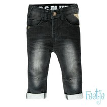 spijkerbroek slim fit antraciet denim