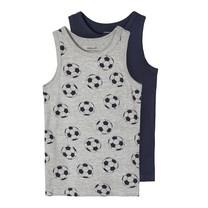 hemd 2-pack grey melange football